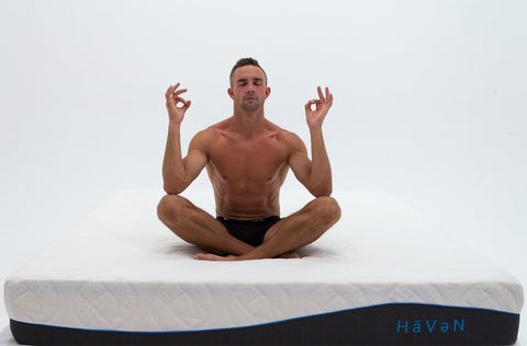Haven mattresses exclusive, a clinically tested body recovery technology that helps you sleep deeper.