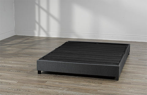 Stop paying to ship air...The SNAP Base Platform, frame & boxspring compacted