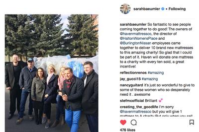 HGTV stars, Bryan and Sarah Baeumler partner with Haven Mattress on charity donations