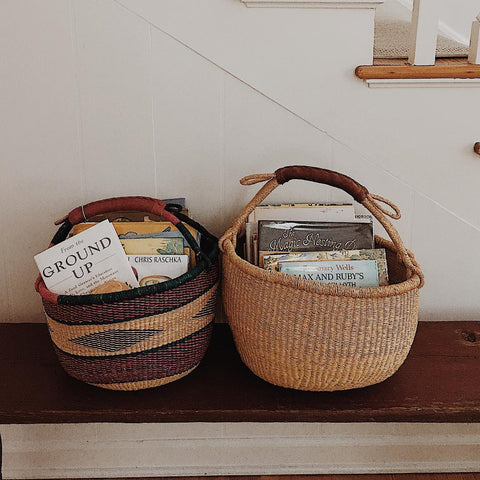 Book basket storage