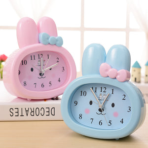 Cute Rabbit Ears Table Clock - Suitable For Student & Kids. (1 Unit)