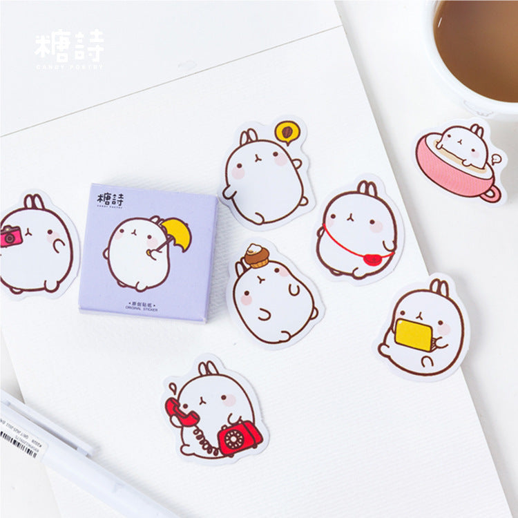 Cute & Decorative Bunny Stickers (45 PCS/Box)
