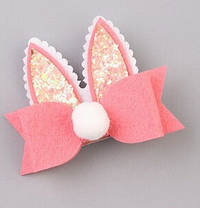 New arrival Children cute Bunny ear Hair Pin baby girl's lovely BB Clip Hairpins Hair Side Clips pince cheveux tiara infan