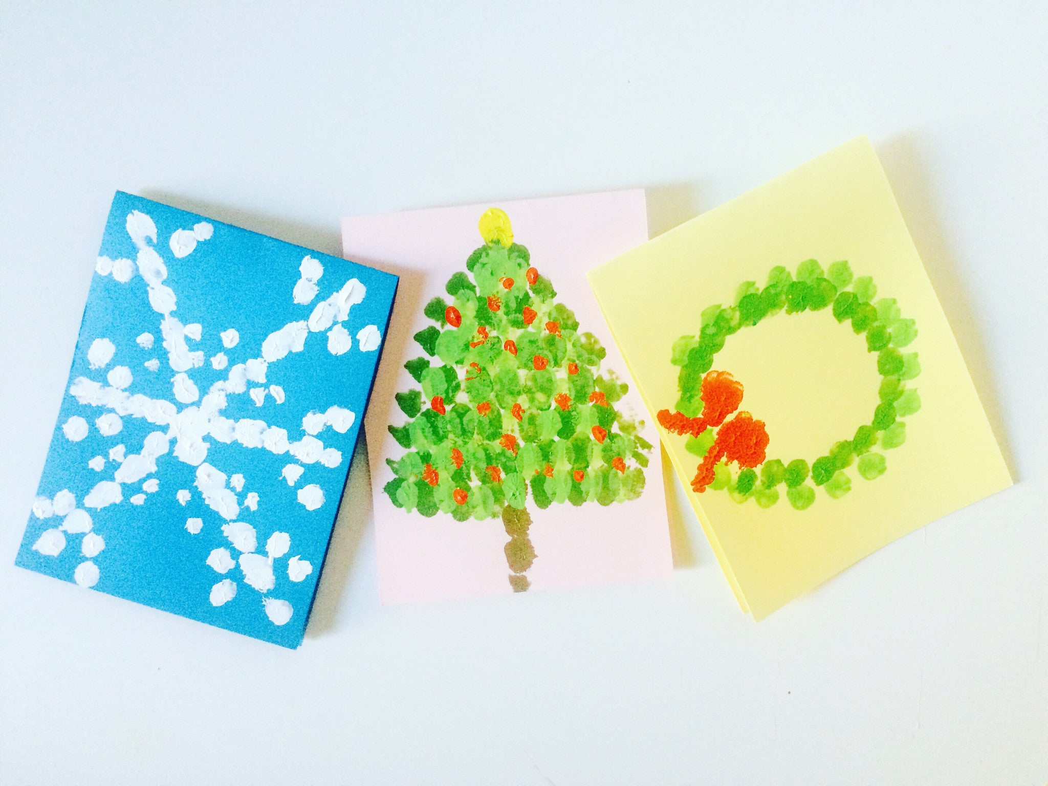Finger Paint Your Own Holiday Cards!
