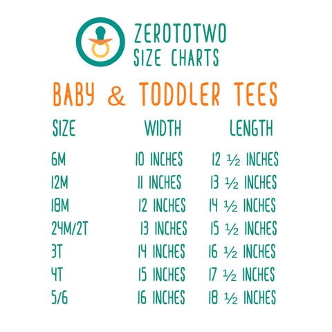 Baby & Toddler Size Chart