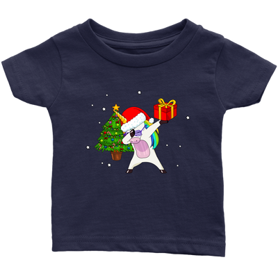 Christmas Unicorn Dab Holiday Kid's Tee