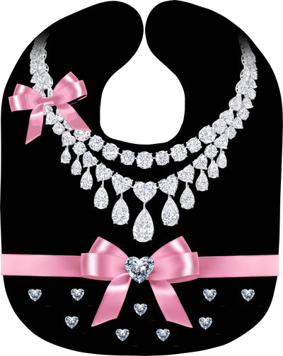 Pearl Necklace Print Baby Bib