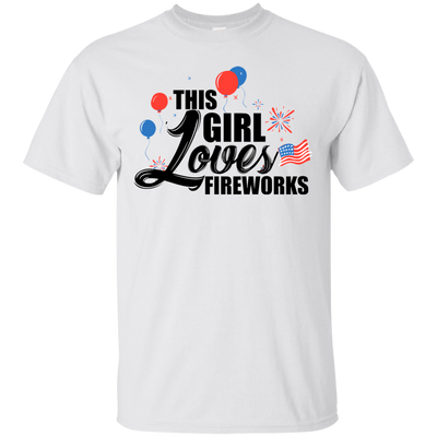 This Girl Loves Fireworks 2 - Adult Summer Tee