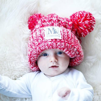 Children's Knit Pom Pom Beanies-6 Colors