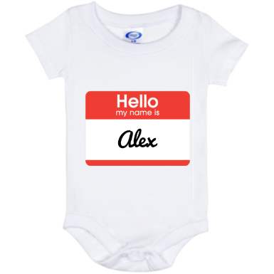 Personalized Name Tag Onesies