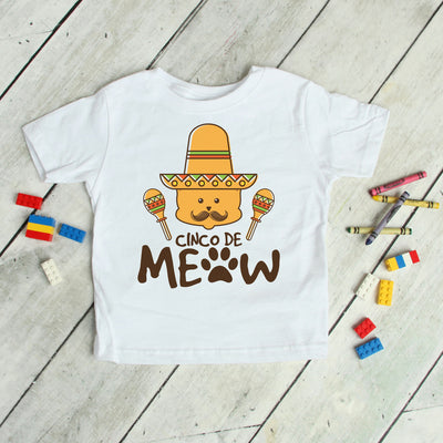 Happy Cinco De Meow - Kids Holiday Tee