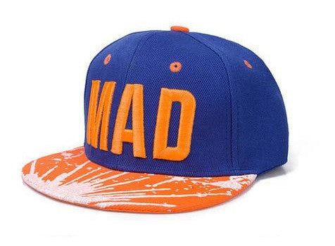 Kids 'Mad' Embroidered Caps - 4 Styles