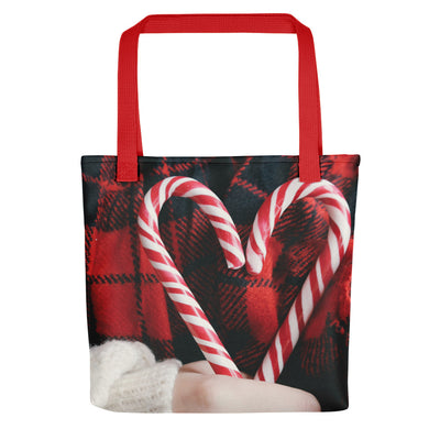 Candy Cane Food - Christmas Holiday Tote Bag