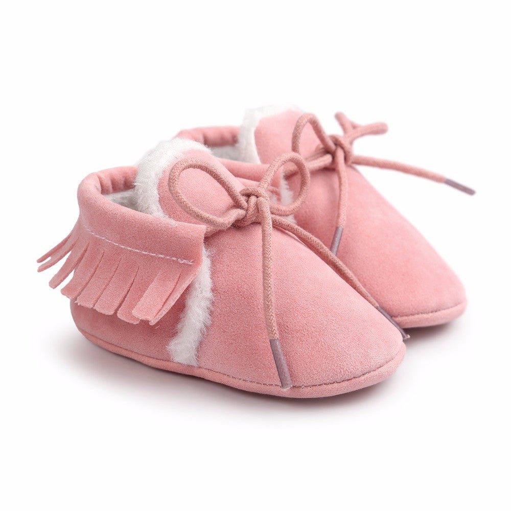 RTS Plush Tied Moccasin Booties-6 Colors