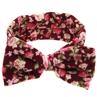 Soft Floral Headbands - 4 Designs