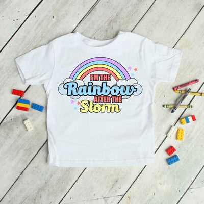 Rainbow After The Storm - Rainbow Baby Kids Tee