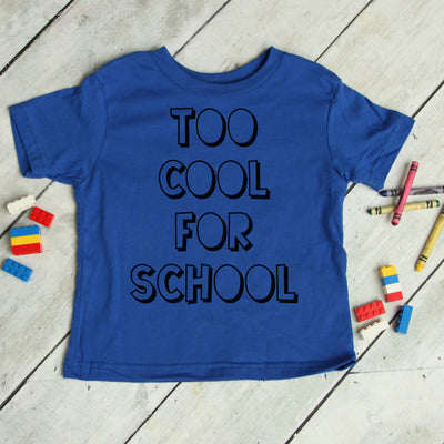 Amazon -  Too Cool for School Tee
