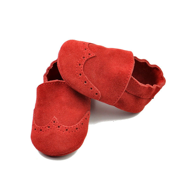 Genuine Leather & Suede Baby Booties - 5 Colors