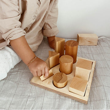 Wooden Story - Shape Sorter Board - XL - Natural - Wood - Zoenvoorgust.com
