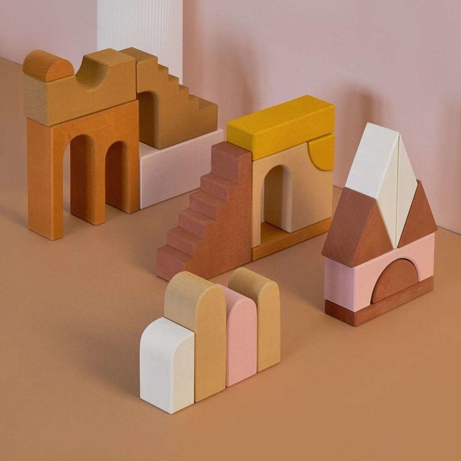 Raduga Grez - Apartment building blocks set - Handmade