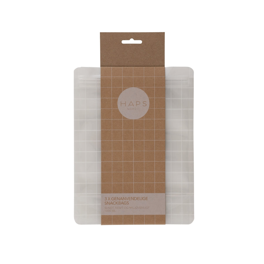 Haps Nordic - The Reusable Snack Bag - 2 Sizes
