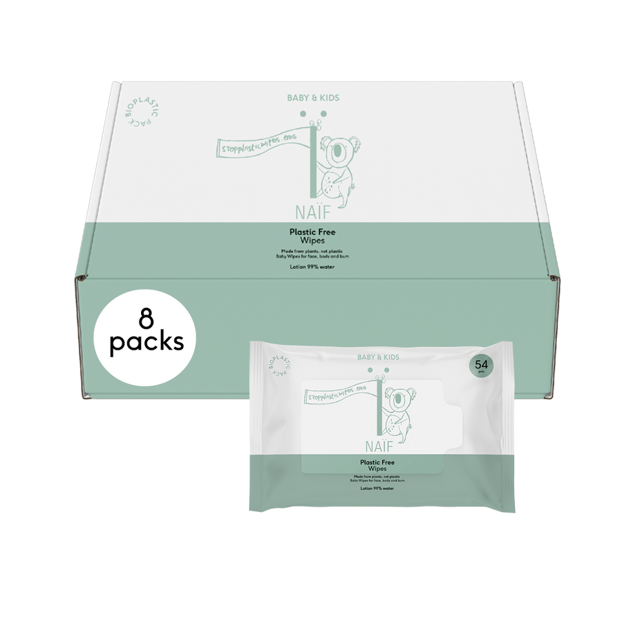 Naïf - Baby wipes - Natural Ingredients (99% water) - Biodegradable