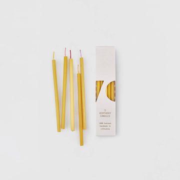 OVO Things - Birthday Candles - 100 % Beeswax - 5 Pack - More colors