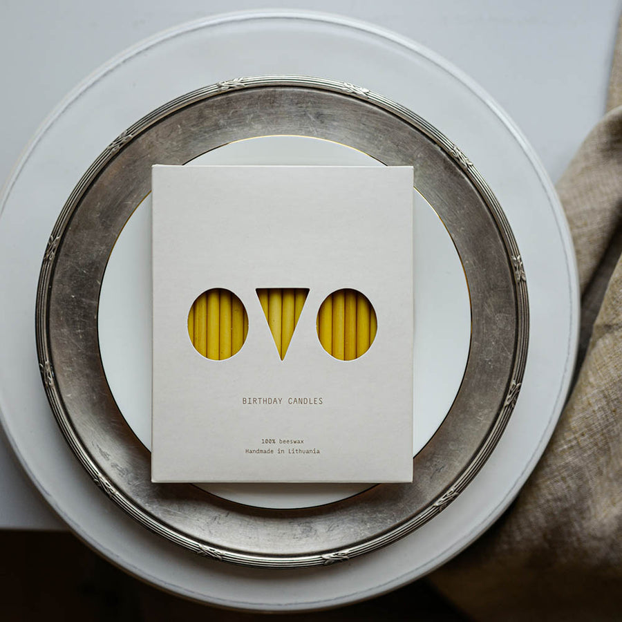 OVO things - Candles - Birthday - Beeswax - Natural - Zoenvoorgust.com