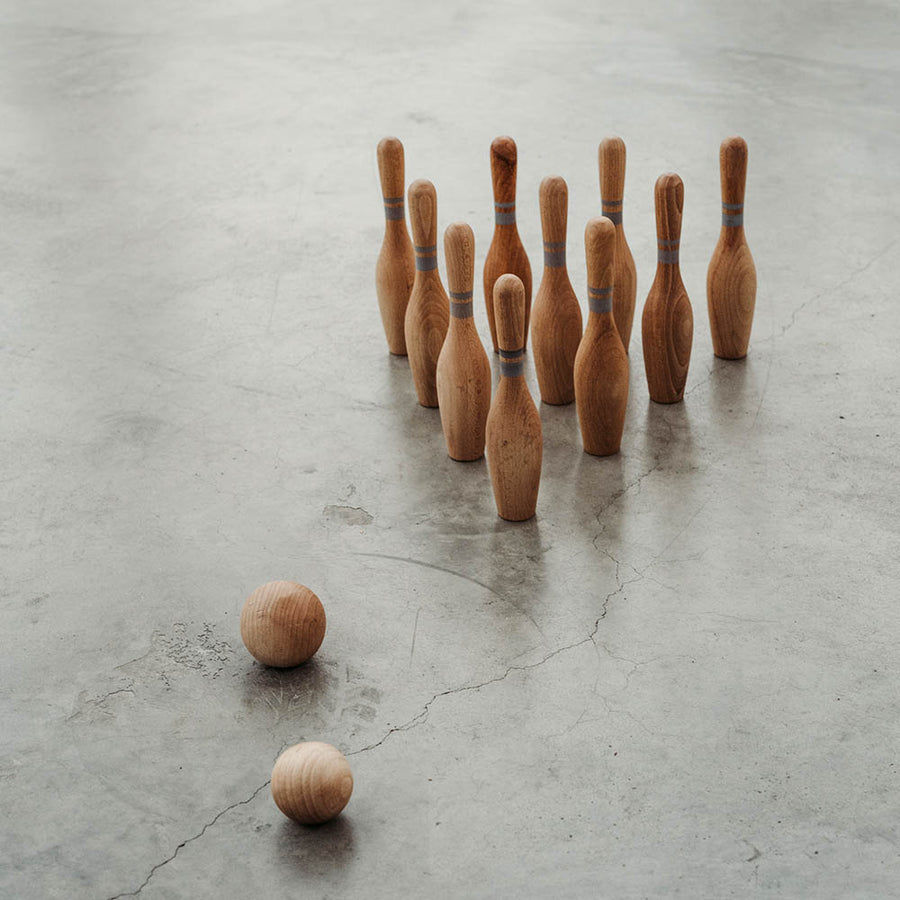 Wooden Story - Bowling Set - Wood - Toy - Zoenvoorgust.com