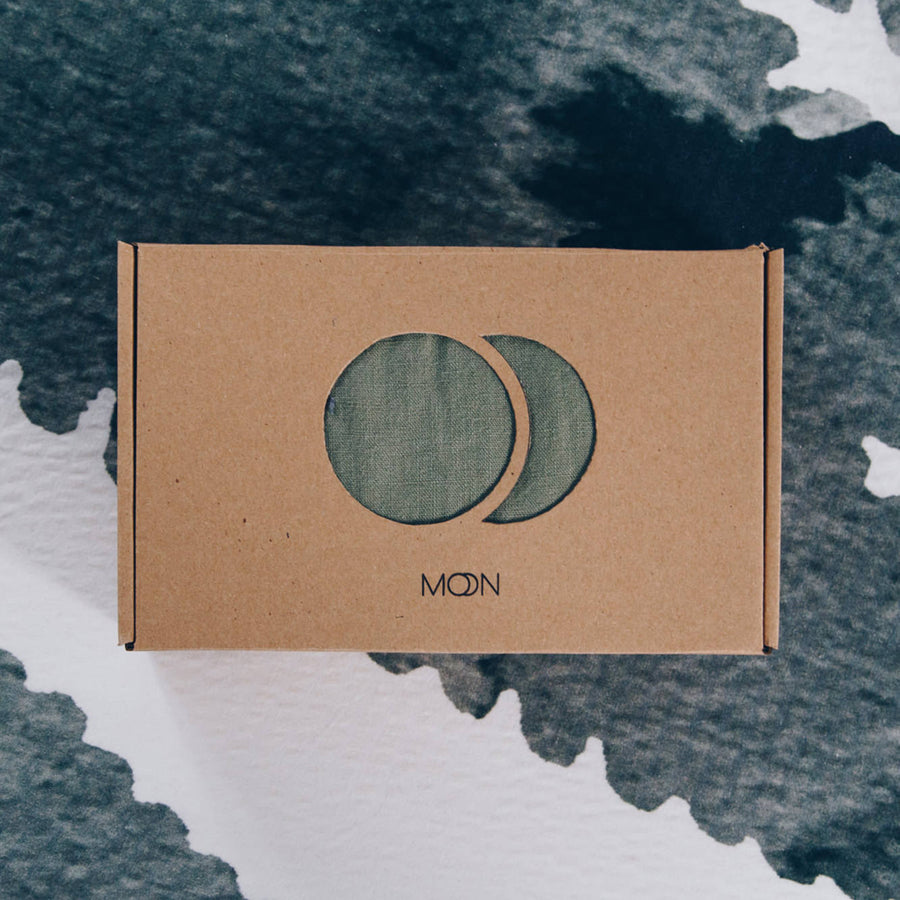 Moonsling - 100% linen Ringsling - Green Moon