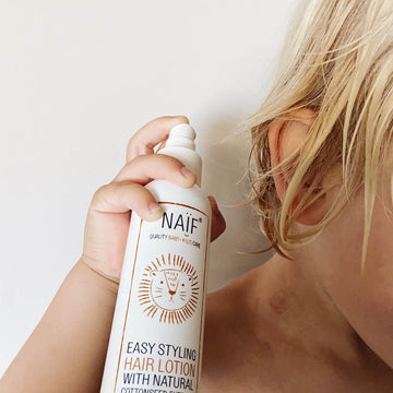 Naïf - Styling - Hair lotion - Natural - Baby care - Zoenvoorgust.com