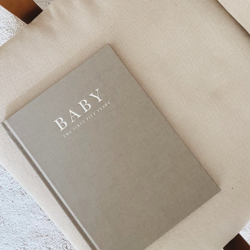 Write to me - Baby journal - Birth to 5years - Grey - Zoenvoorgust.com