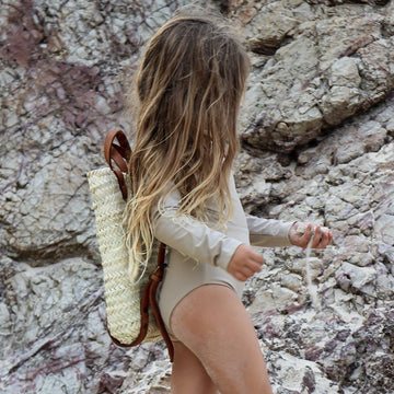 Ina Swimwear - Long Sleeve swimsuit - Sand