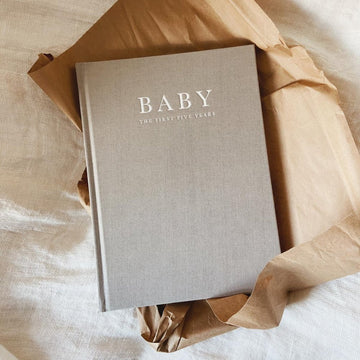 Write to me - Baby journal - Birth to Five years - Grey