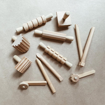Tothemoon - Wooden Tools - 12 pieces - Zoenvoorgust.com