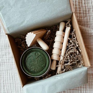 Tothemoon ☾ - Gift box - Hand-picked with love - Play dough & Wooden tool set - More colors