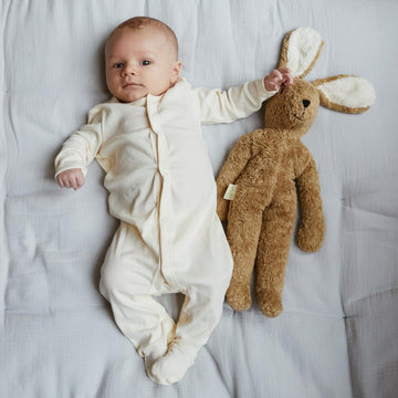 Sleep Suit with feet - Organic cotton - Cream