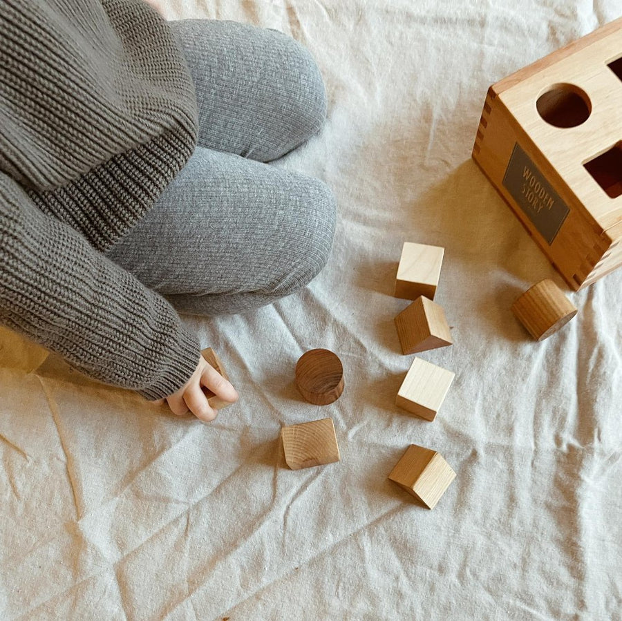 Wooden Story - Natural Shape Sorter Box