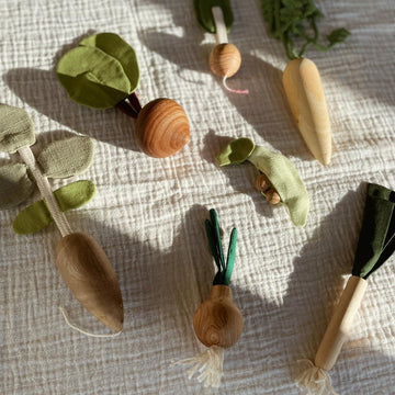 Wooden Vegetable Play Set - Handmade
