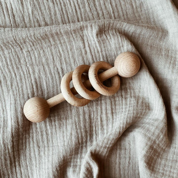 Wooden Rattle - Organic Beech Wood