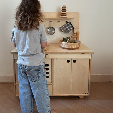 Wooden Mini Kitchen - Handcrafted