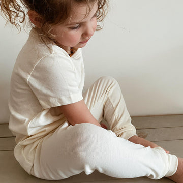 Pyjama Pants - Organic cotton - Cream