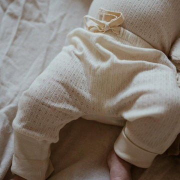 Baby Pants - Pointelle - Organic Cotton - Natural