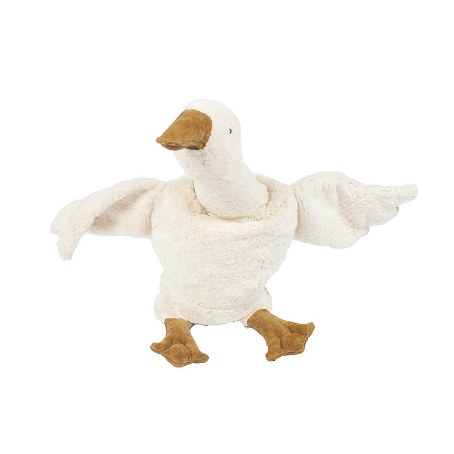 Senger Naturwelt - Cuddly Animal - Goose Small White - Warming Pillow - Zoenvoorgust.com