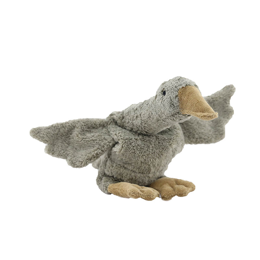 Senger Naturwelt - Cuddly Animal - Goose Small Grey - Warming Pillow - Vegan - Zoenvoorgust.com