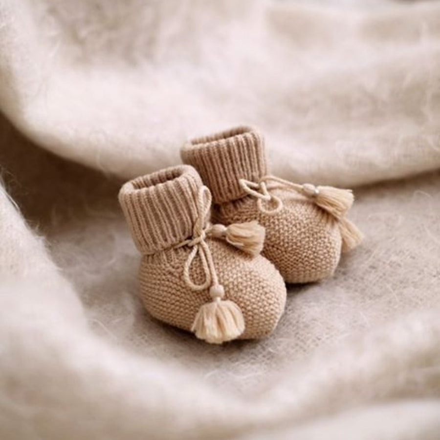Gentil Coquelicot - Knitted - Baby Booties - Socks - Zoenvoorgust.com