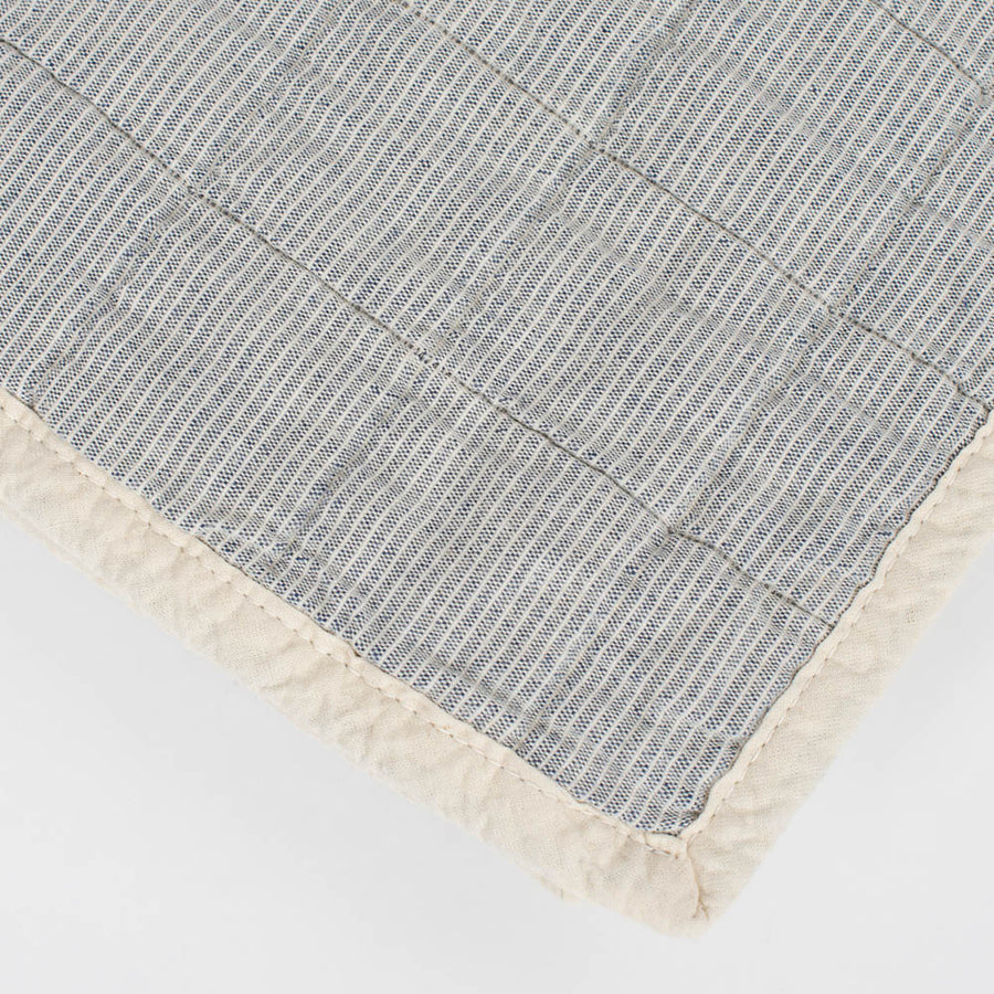 Studio Feder - Quilt - Organic Cotton - Blue Pin
