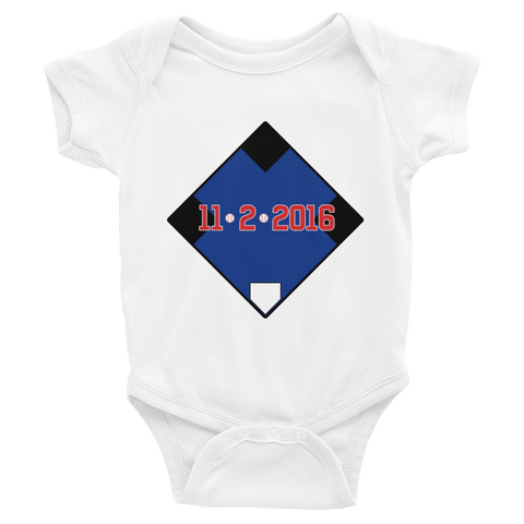 11/2/2016 Chicago Cubs Baby Onesie