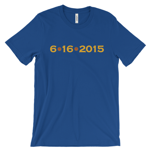 6/16/2015 Golden State Warriors Tee (Blue)