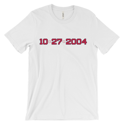 10/27/2004 Boston Red Sox White Tee - Collect + Capture